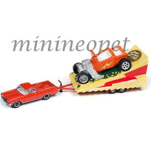 JOHNNY-LIGHTNING-JLTG001-B-1965-CHEVROLET-EL-CAMINO-amp-PARADE-FLOAT-1-64-RED