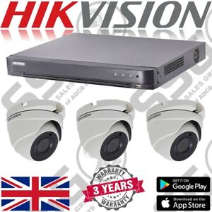 Hikvision-5MP-4CH-8CH-KIT-CCTV-DVR-Registratore-HD-Dome-Camera-da-esterno-resistente-alle-intemperie