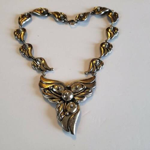 Vintage Joseff Of Hollywood Silver Necklace