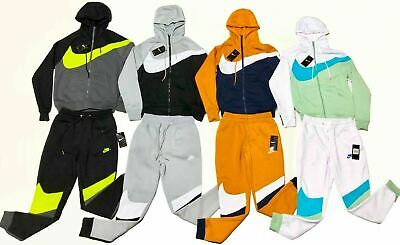 Nike Sweat Suit Men's Swoosh Complete Set Hoodie & Joggers Brand New | eBay