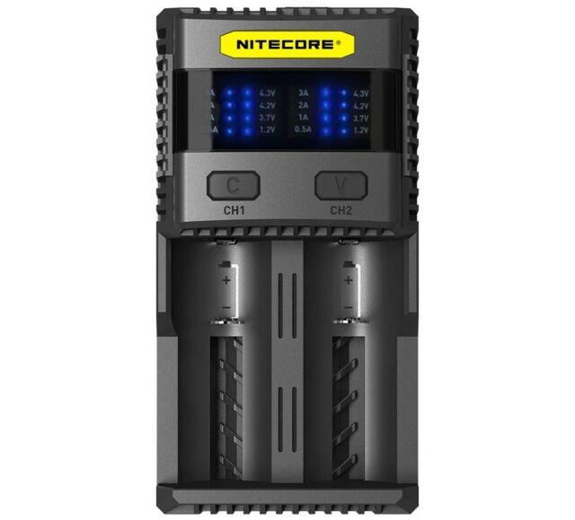 Nitecore SC2 SUPERB - 3A Dos Bandeja Cargador Rápido Para LI-ION, Lifepo, NI-MH