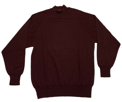 Vintage Virany L/S Sweater Maroon Red 50% Wool 50%