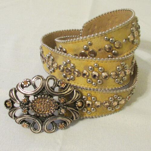 Vintage B.B. Simon Women's Gold Belt with Swarovsk