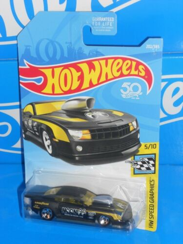 Hot Wheels 2018 HW Speed Graphics #202/'10 PRO STOCK Camaro Noir mooneyes