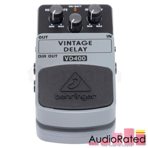 Behringer VD400 Vintage Delay Effects Pedal Guitar Loop Repeat 60s 70s 80s Rock