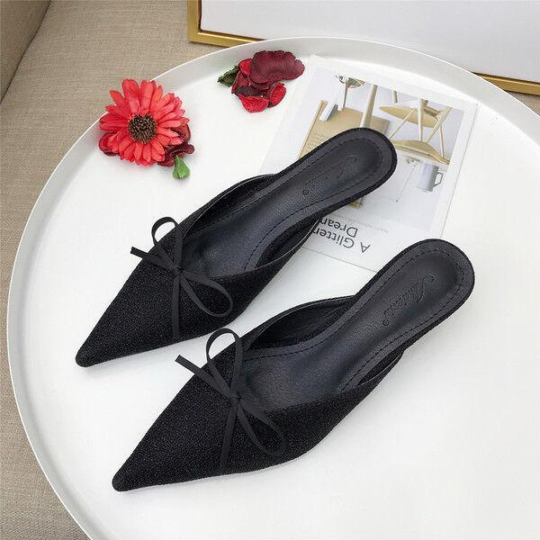 Sandalei comodi eleganti sabot ciabatte stiletto nero 5 cm comodi comodi Sandalei ... 9a4633