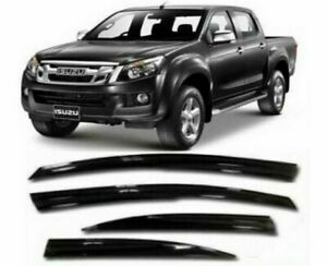ISUZU-D-MAX-Wind-Sun-Rain-Smoke-Deflectors-Visor-SET-4-PCS-2012-UP