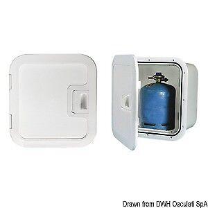 Gas-Bottle-Storage-Locker-With-Vent-Box-White-NEW-Caravan-Yacht-Boat-BOX4