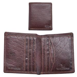 Mens-Gents-Luxe-Slim-RFID-Bloquant-Authentique-Portefeuille-Porte-monnaie-porte-carte-marron