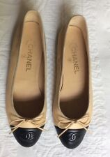 Very Lightly Worn Chanel Cream And Black Pumps Sz 38. UK5. In Box!
