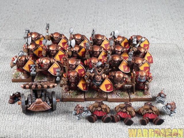 25mm King of War WDS painted Dwarfs Forge guard guard guard detachment m60 da615a