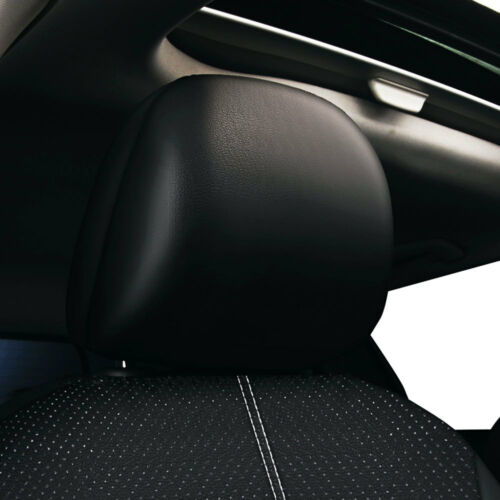 Black Universal Car Look Leather Cushion 5 Seats Full Protect Seat Cover UK