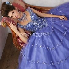 New Hot Beaded Quinceanera Dress Ball Gown Formal Prom Party Wedding Dresses
