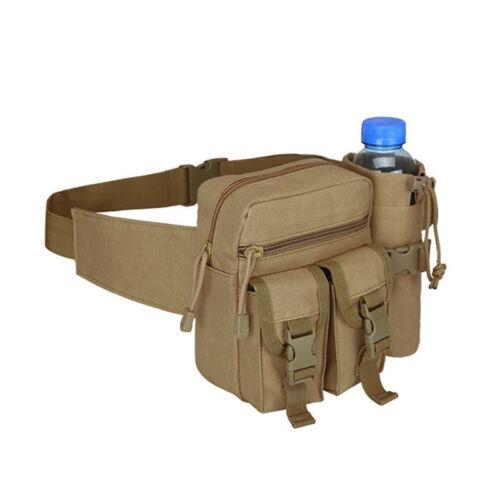 Sport Tactical Military Hiking Travel Water Bottle Belt Fanny Pack Waist Bag WE