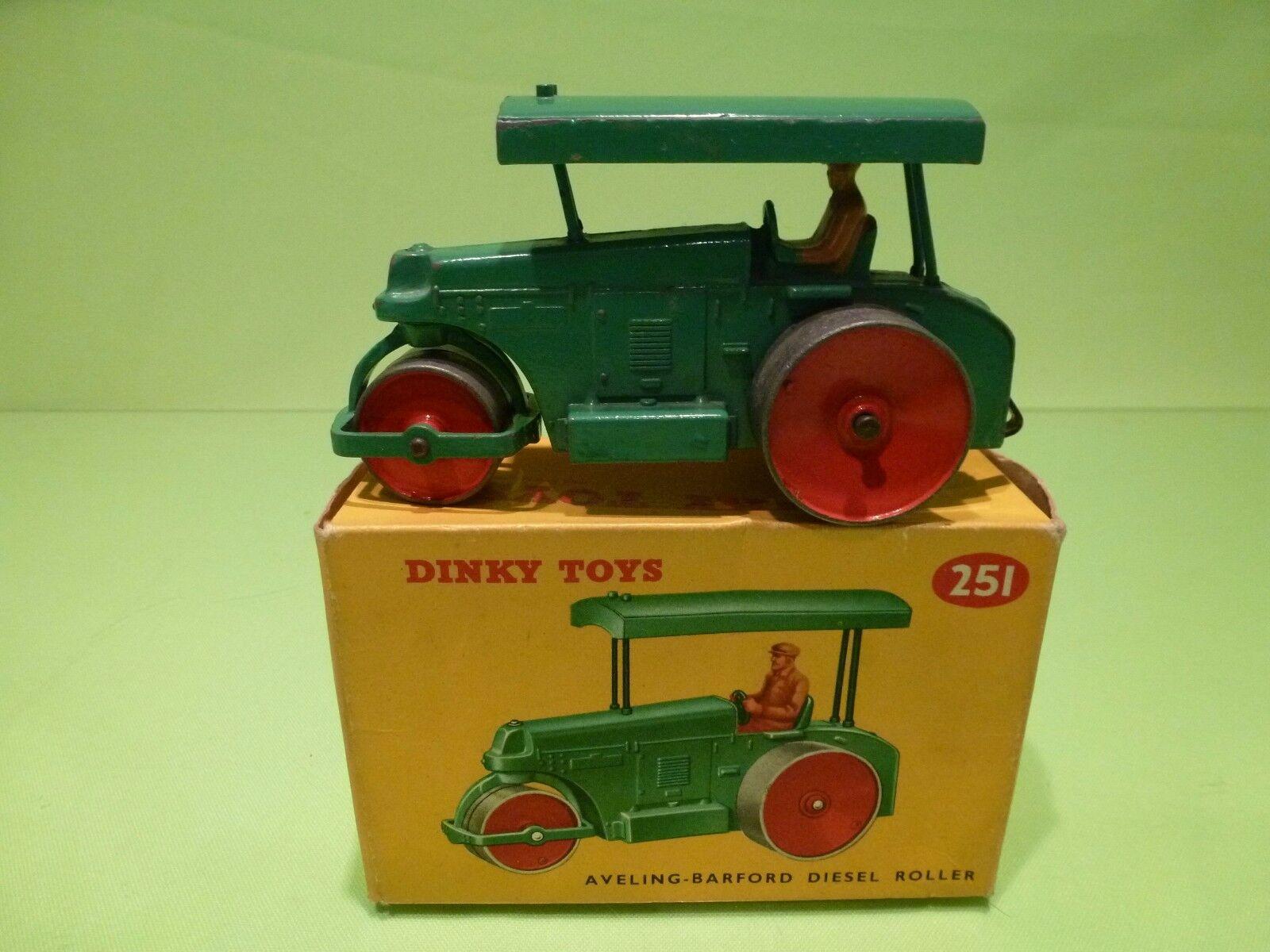 DINKY TOYS 251 AVELING BARFORD DIESEL ROLLER - verde - EXCELLENT IN BOX
