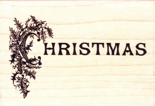 BERYL PETERS COLLECTION Wood Mounted Rubber Stamp CHRISTMAS