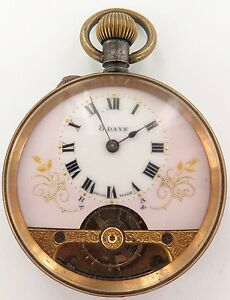 VERY-NICE-VINTAGE-HEBDOMAS-STYLE-8-DAYS-POCKET-WATCH-GREAT-DIAL-WORKING