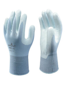 5 X SHOWA 265R Lightweight Assembly Grip Lite LowLint Gloves Nitrile Palm Coat