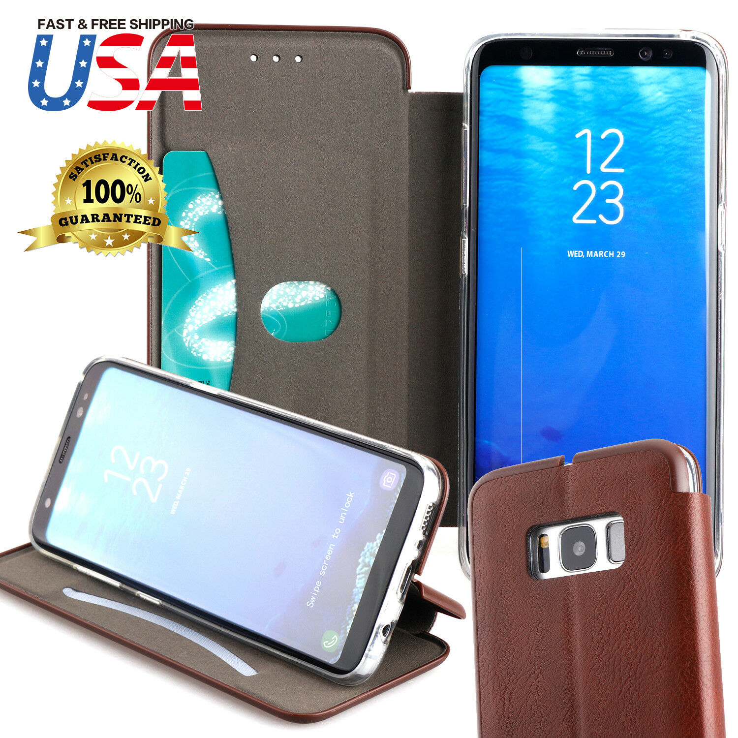 Cases Covers Skins Cell Phone Accessories Phones Goospery Samsung Galaxy Grand Prime Canvas Diary Case Green For S8 Plus Note8 Genuine Leather Card Slots Wallet Shockproof Cover