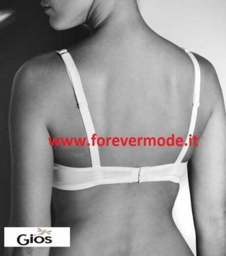 Reggiseno donna Gios con coppe in doppio tessuto cotone e scollo a V art Melissa