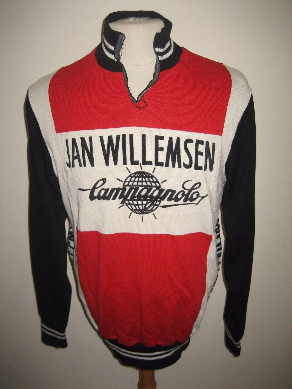 Jan Willemsen Campagnolo vintage jersey shirt cycling maillot trikot size 54, L
