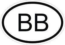Barbados BB Aufkleber Autoaufkleber Motorrad Auto Nationalitätenkennzeichen