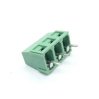 20 pc 126-3P 3 Pin 5.0mm Pitch PCB Screw 3 Positions Terminal Block Connector