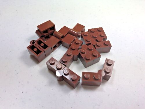 LEGO x 10 Reddish Brown Hinge Brick 1 x 4 Swivel Top Base Complete Assembly