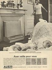Publicité Advertising 1964 Radiateur à gaz AUER avec thermostat