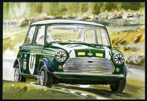 SPORTIVO MINI COOPER-QUATTRO cartolina Set-OPERE Rally BMC Britax HOPKIRK LIDDON