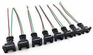 8 fuel injector connector wiring plugs clips fit ev1 obd1 pigtail rh ebay com