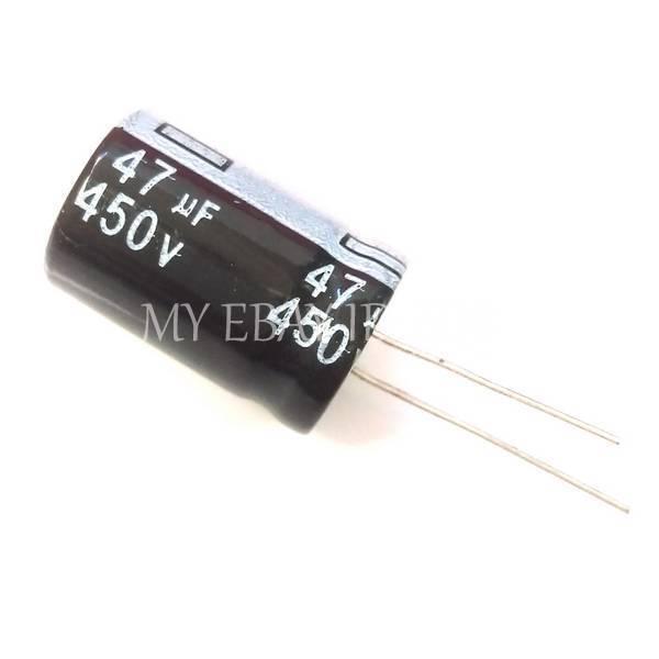 450V Electrolytic capacitor 47µF 4pcs  BC LL12 series 47uF