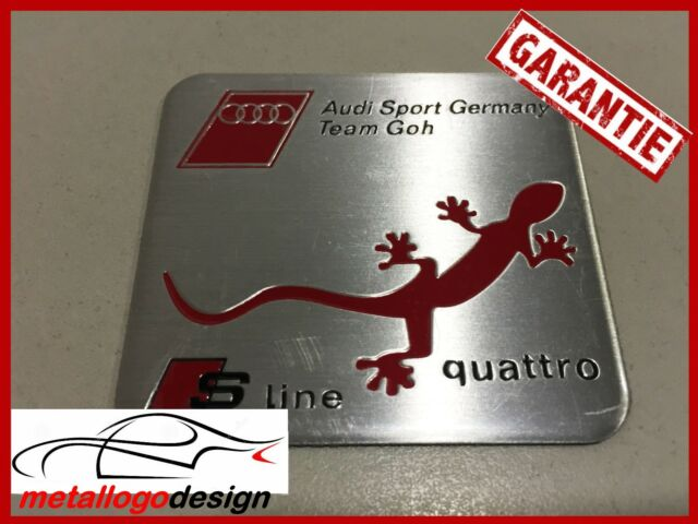 NEW M308 Car Badge / Emblem Emblema AUDI SPORT GERMANY TEAM GOH  60X55MM