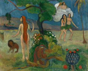 Paradise-Lost-Paul-Gauguin-Wall-Art-Print-on-Canvas-Giclee-painting-Repro-Small