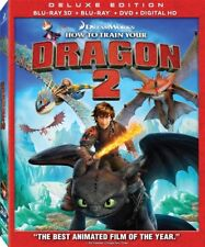 How to Train Your Dragon 2 3d Blu-ray DVD Digital HD Deluxe Edition Slipcover