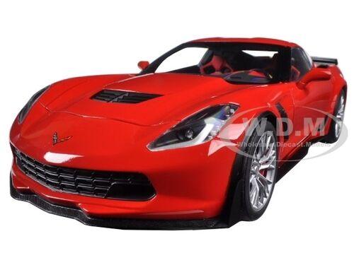 2016 CHEVROLET CORVETTE C7 Z06 TORCH RED 1//18 MODEL CAR BY AUTOART 71262