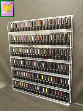 USA Famous FUJI Acrylic Clear Nail Polish Display Wall Rack up to 126 Bottles