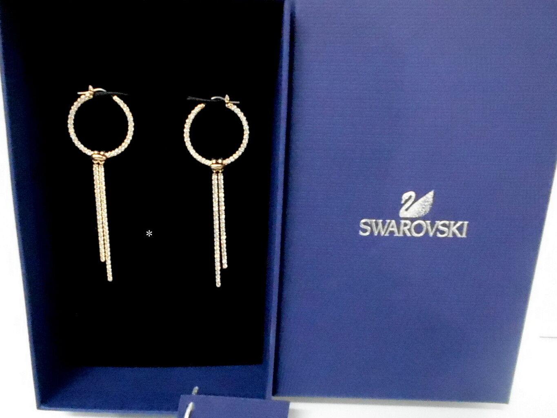 Swarovski Lifelong Pierced Earrings Hoop Large, ROS Crystal Authentic 5390820