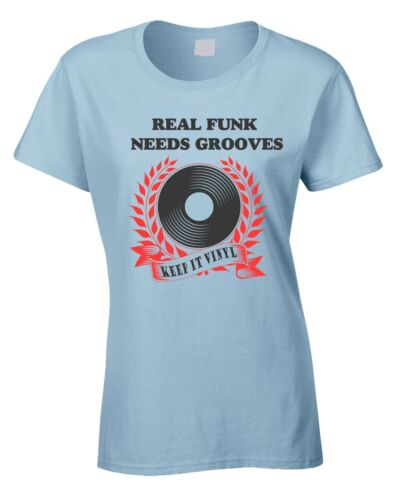 Funk Music Ladies T-Shirt Keep It Vinyl Lover  Grooves Funky Dance Northern Soul