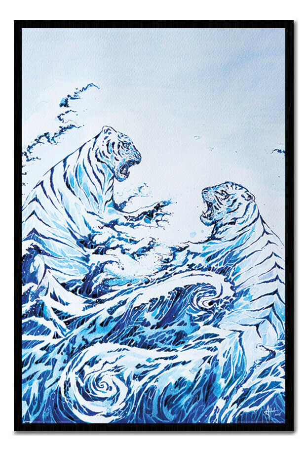 Marc Allante The Crashing Waves Framed Cork Pin Notice Board With Pins
