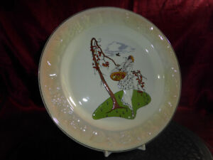PALISSY-by-Royal-Worcester-CONSTANCE-Ceramic-Cabinet-Plate-ART-DECO-EMBOSSED-VGC