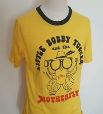 VTG 1970s Soft Thin Yellow Concert T Shirt ~ Indie/Funk/Rock ~ 1978 ~ Large