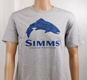 SIMMS-Fire-Hole-Trout-T-Shirt-Grey-Heather-SIZES-L-XL-2XL