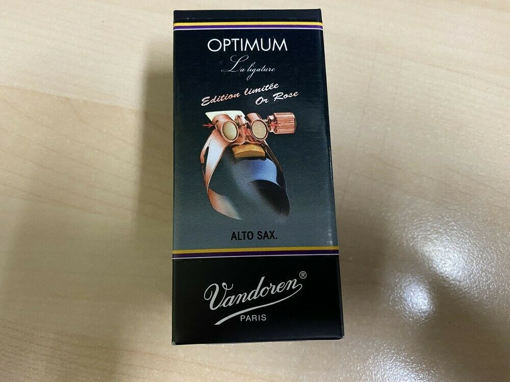 Vandoren Alto Sax OPTIMUM PINK GOLD Ligature /& Plastic Cap LC07PGP