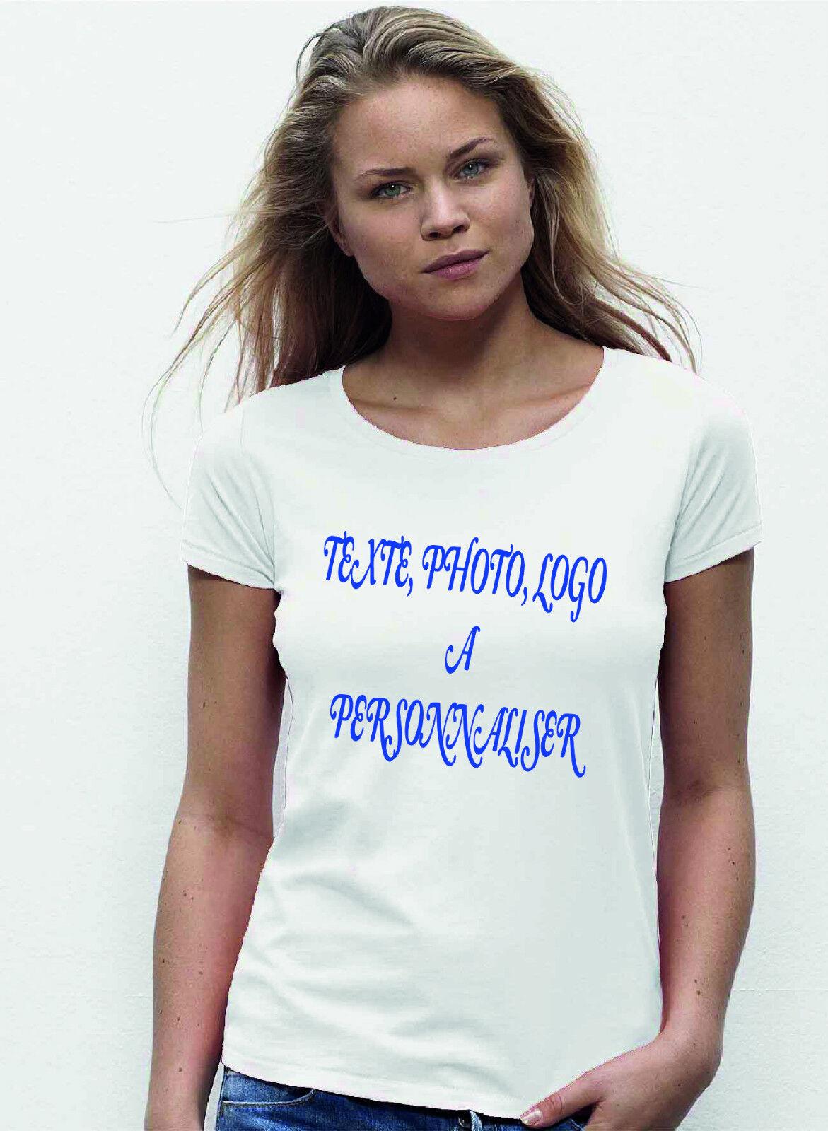 Lot de 10 T-shirts FEMME A PERSONALISER
