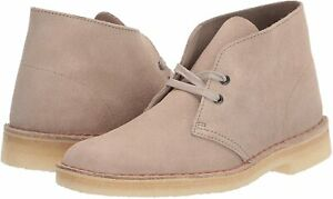 Men-039-s-Shoes-Clarks-DESERT-BOOT-Lace-Up-Chukka-Boots-55527-SAND-SUEDE