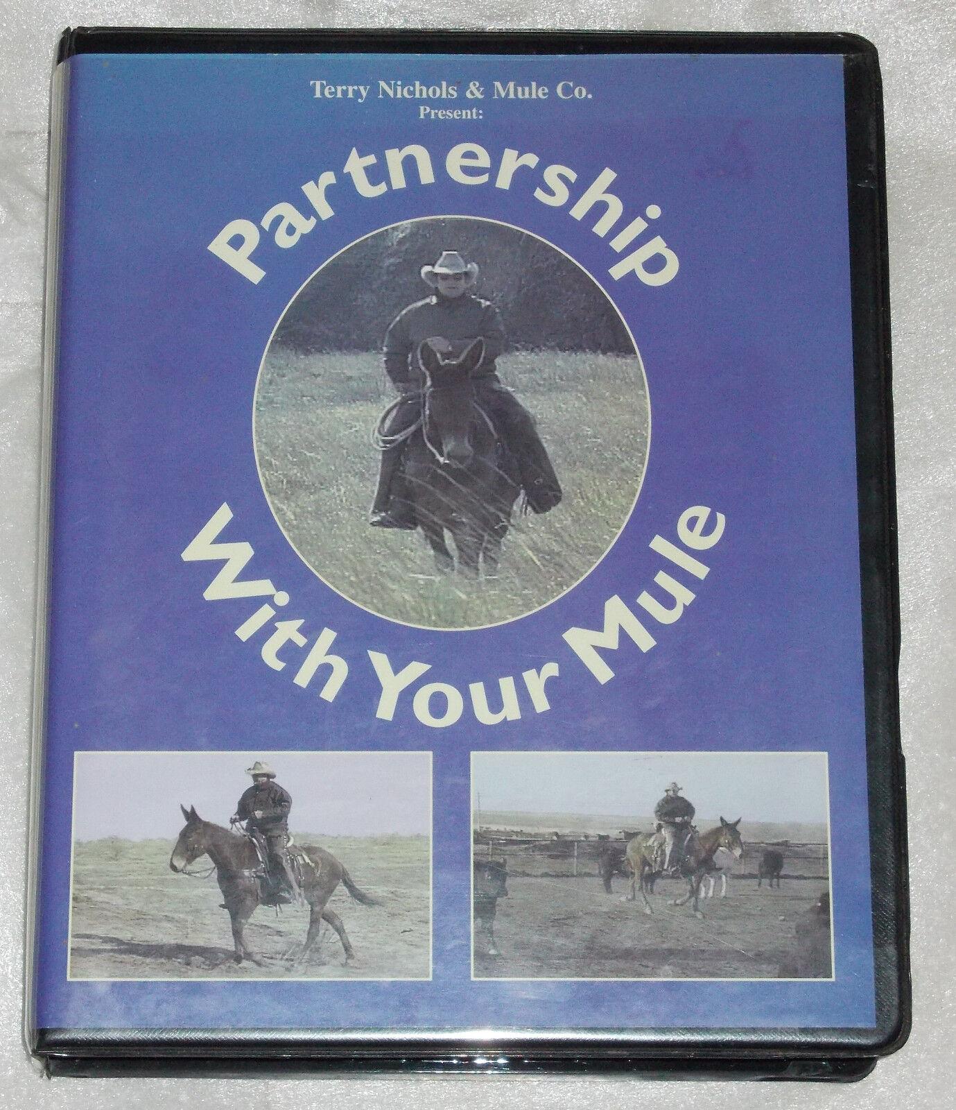 PARTNERSKAP MED DIN MULE Terry Nichols 4 videouppsättning utbildning VHS