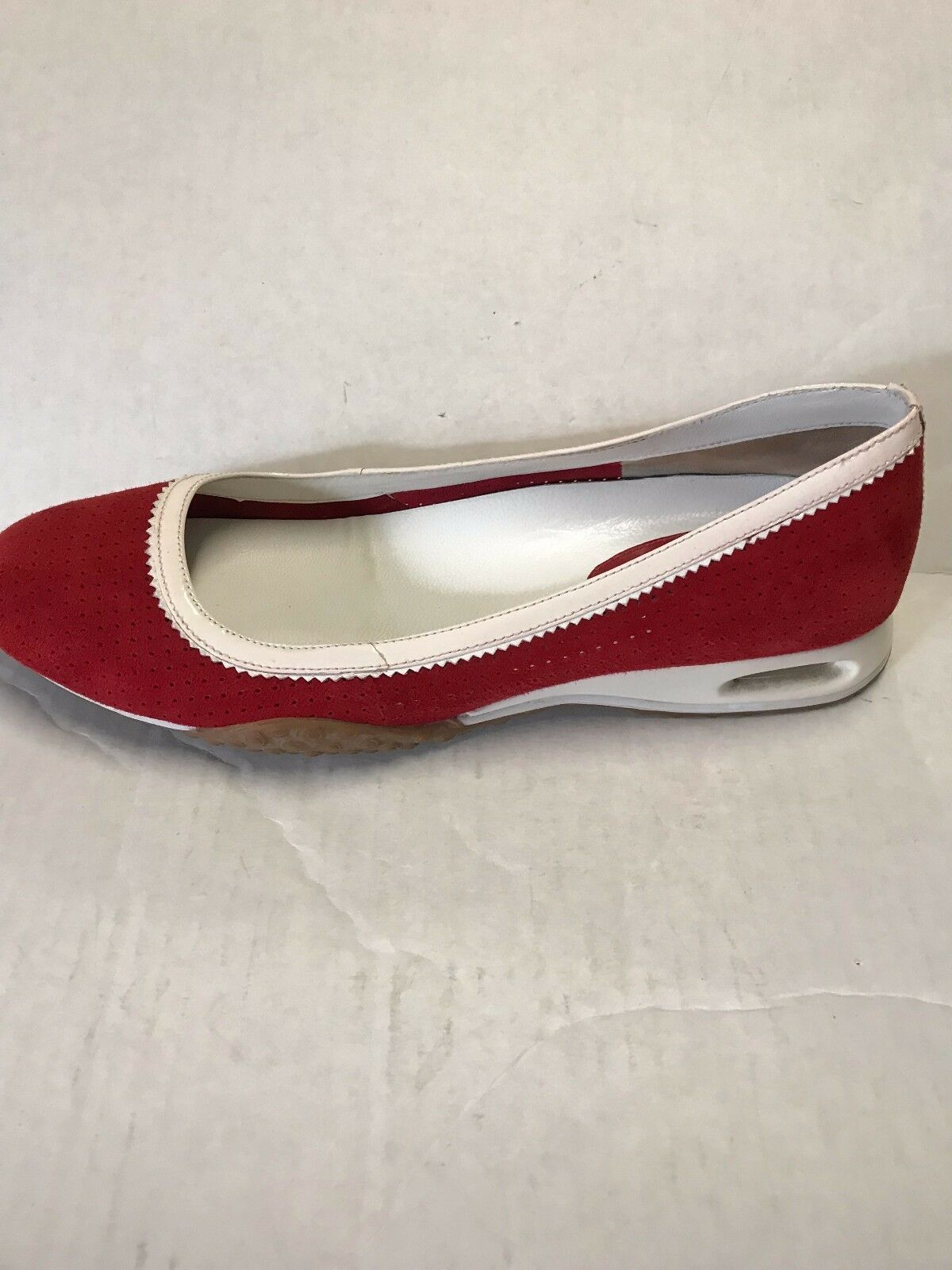Cole Haan Women's shoes G Series Red Suede w  White Patent Slip On Size 7 B