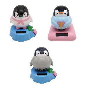 Solar Powered Dancing Bobble Head Penguin Toy Home Desk Table Car Ornament