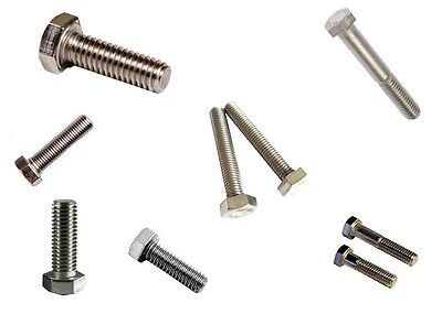 18-8 Stainless Steel Bolt M6 x 1 x 100mm Length Metric 20 Pcs FT
